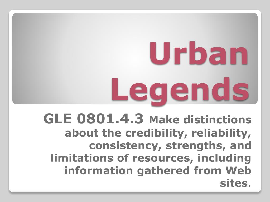 urban legends l.