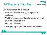 nw regional priorities