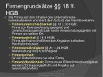 firmengrunds tze 18 ff hgb