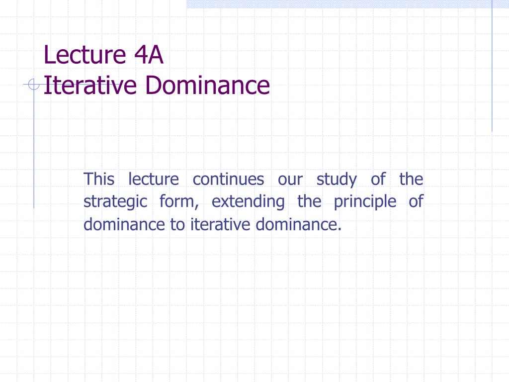 Lecture 4A