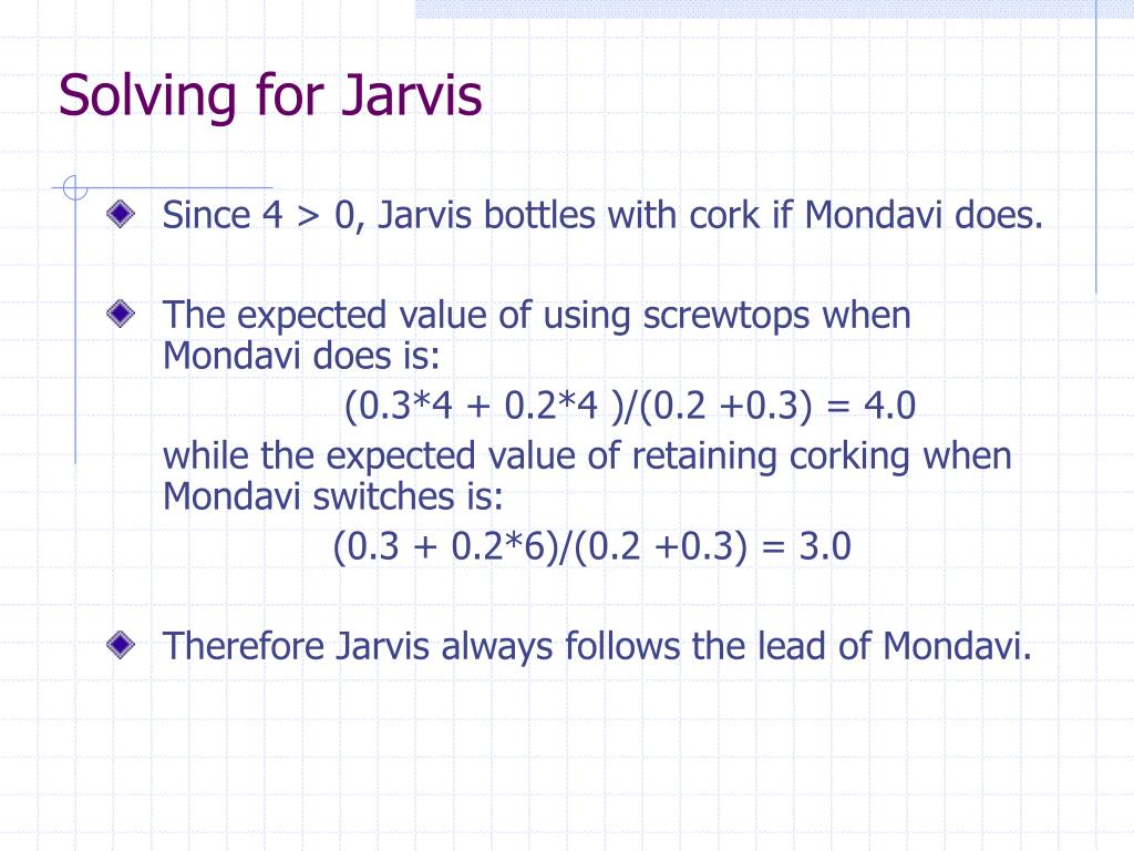 Solving for Jarvis