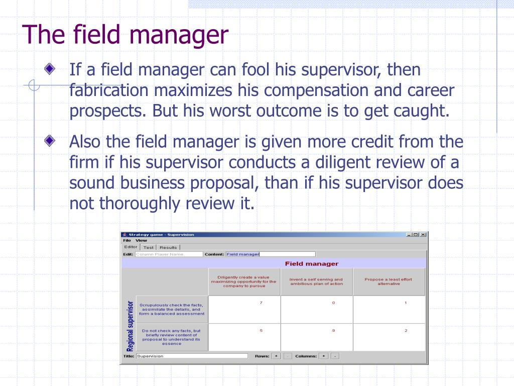 The field manager