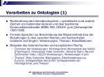 vorarbeiten zu ontologien 1