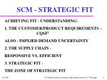 scm strategic fit