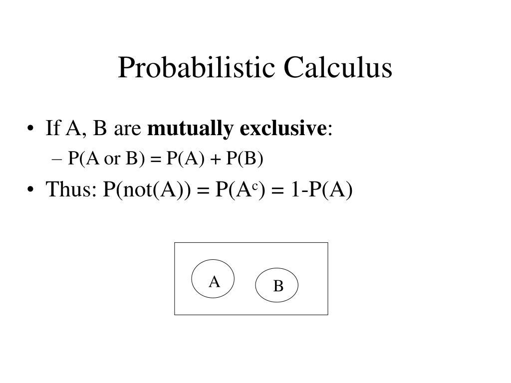 Probabilistic Calculus