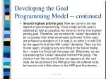 developing the goal programming model continued21
