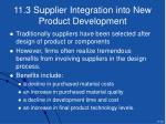 11 3 supplier integration into new product development