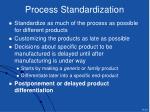 process standardization