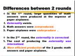 differences between 2 rounds