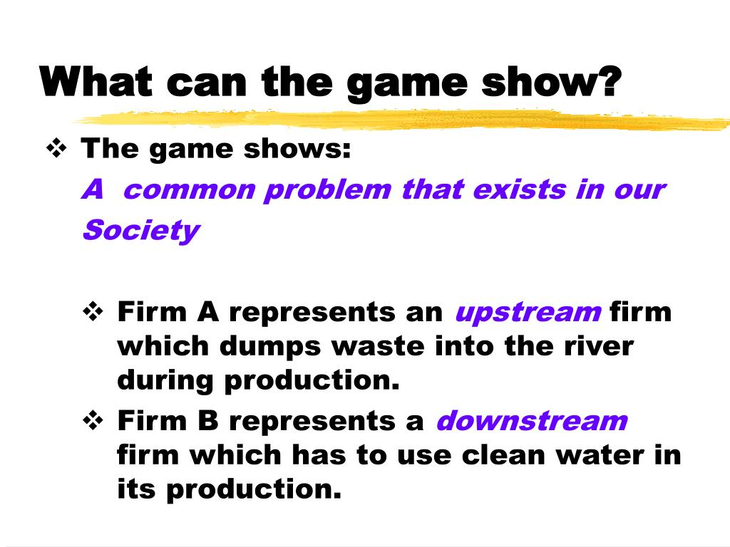 What can the game show?