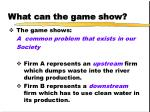 what can the game show