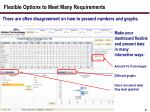 flexible options to meet many requirements