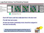 large scale xcelsisus test scheduling example