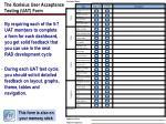 the xcelsius user acceptance testing uat form