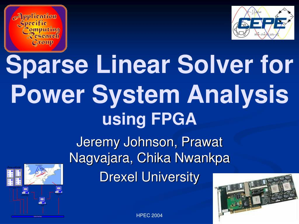 sparse linear solver for power system analysis using fpga l.