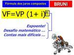f rmula dos juros compostos