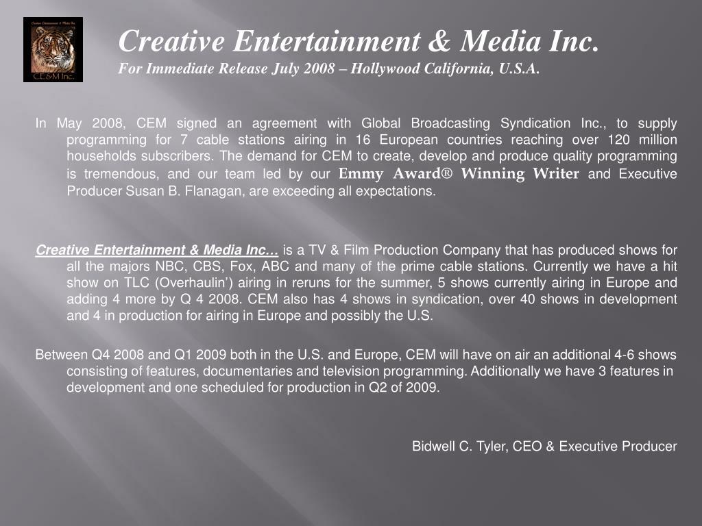 Creative Entertainment & Media Inc.