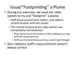 issue footprinting a plume