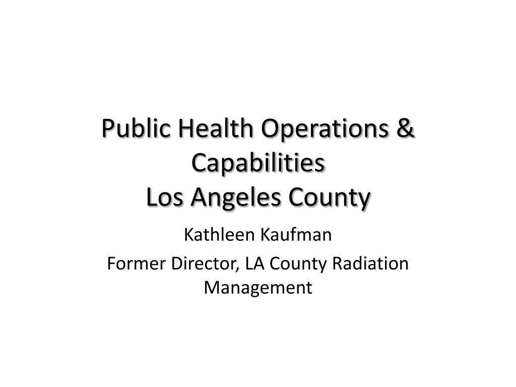 public health operations capabilities los angeles county l.