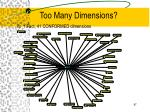 too many dimensions