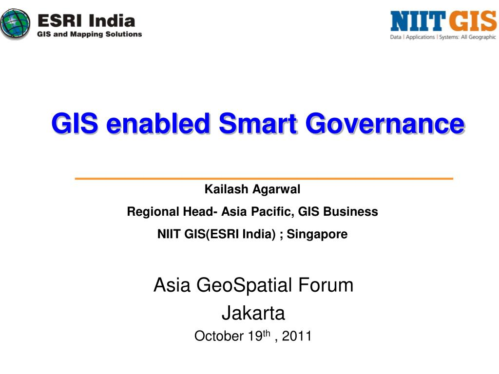 asia geospatial forum jakarta october 19 th 2011 l.