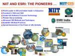 niit and esri the pioneers