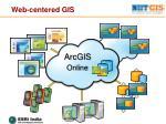 web centered gis