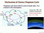 mechanism of ozone chapman cycle