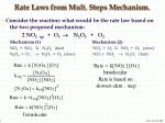 rate laws from mult steps mechanism