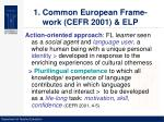 1 common european frame work cefr 2001 elp