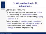 3 why reflection in fl education