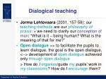 dialogical teaching