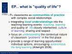 ep what is quality of life