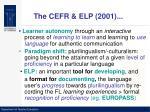 the cefr elp 2001