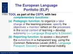 the european language portfolio elp