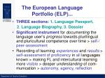 the european language portfolio elp6
