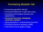 increasing disaster risk
