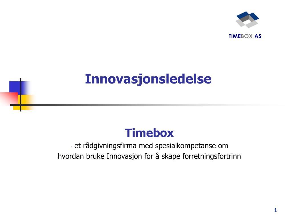 innovasjonsledelse l.