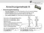 anrechnungsmethode iii