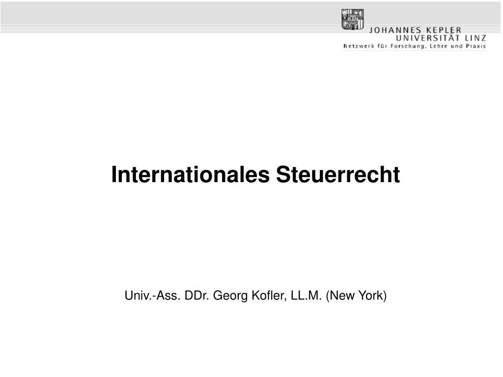 internationales steuerrecht l.