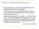 what is transitional kindergarten9