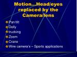 motion head eyes replaced by the camera lens