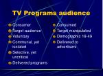 tv programs audience57