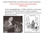 another notable effect of the korean war in the united states
