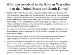 who was involved in the korean war other than the united states and south korea