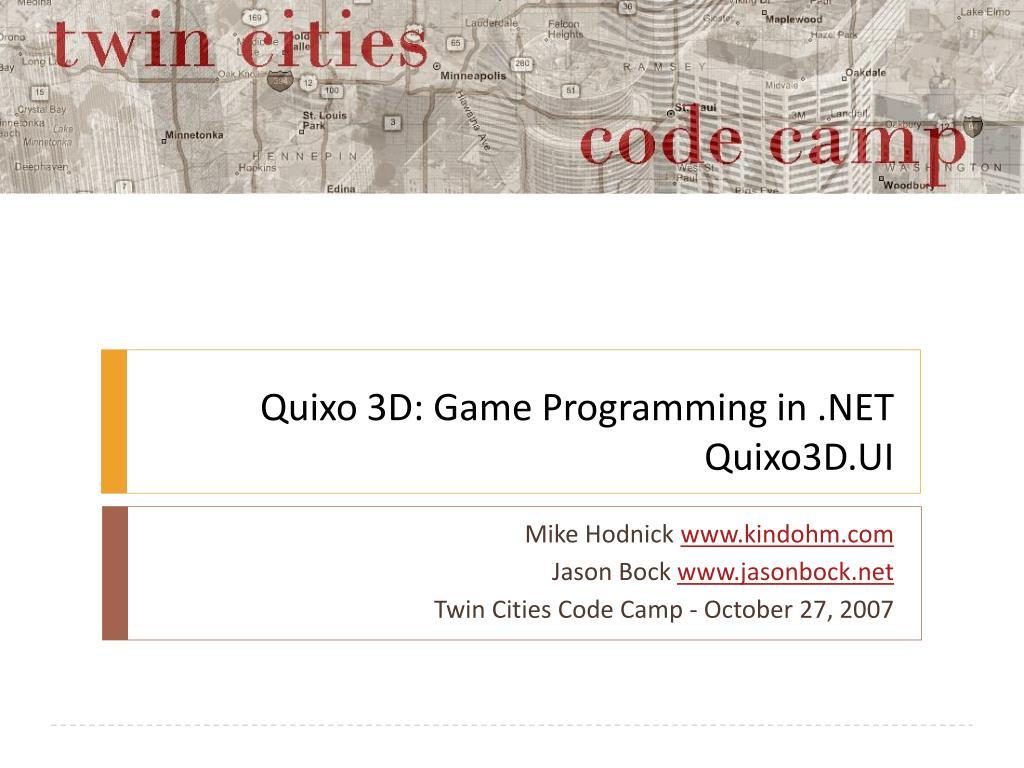 quixo 3d game programming in net quixo3d ui l.