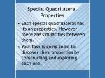 special quadrilateral properties
