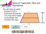 areas of trapezoids kites and rhombuses