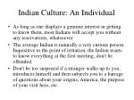 indian culture an individual13