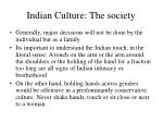 indian culture the society